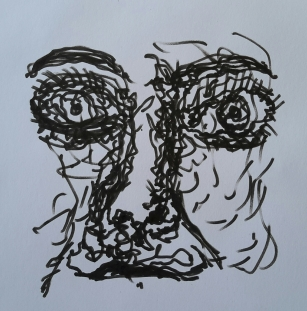 scribble-face
