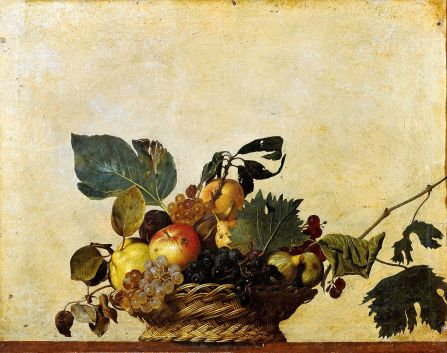 caravaggiobasket of fruit