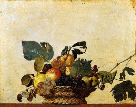 caravaggiobasket of fruit