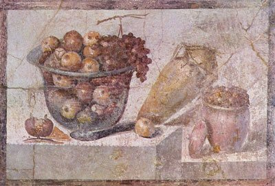 Still life painting from a villa in Pompeii, c. 70 AD.