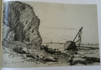 monetsailingboatbeached1864